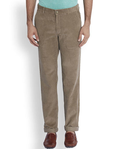 ColorPlus  Brown Tailored Fit Trouser