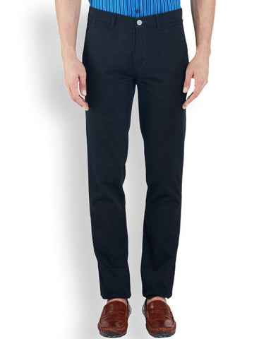 ColorPlus  Navy Blue Contemporary Fit Trouser