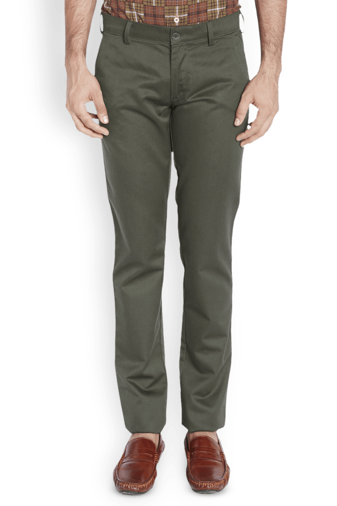 ColorPlus  Green Contemporary Fit Trouser