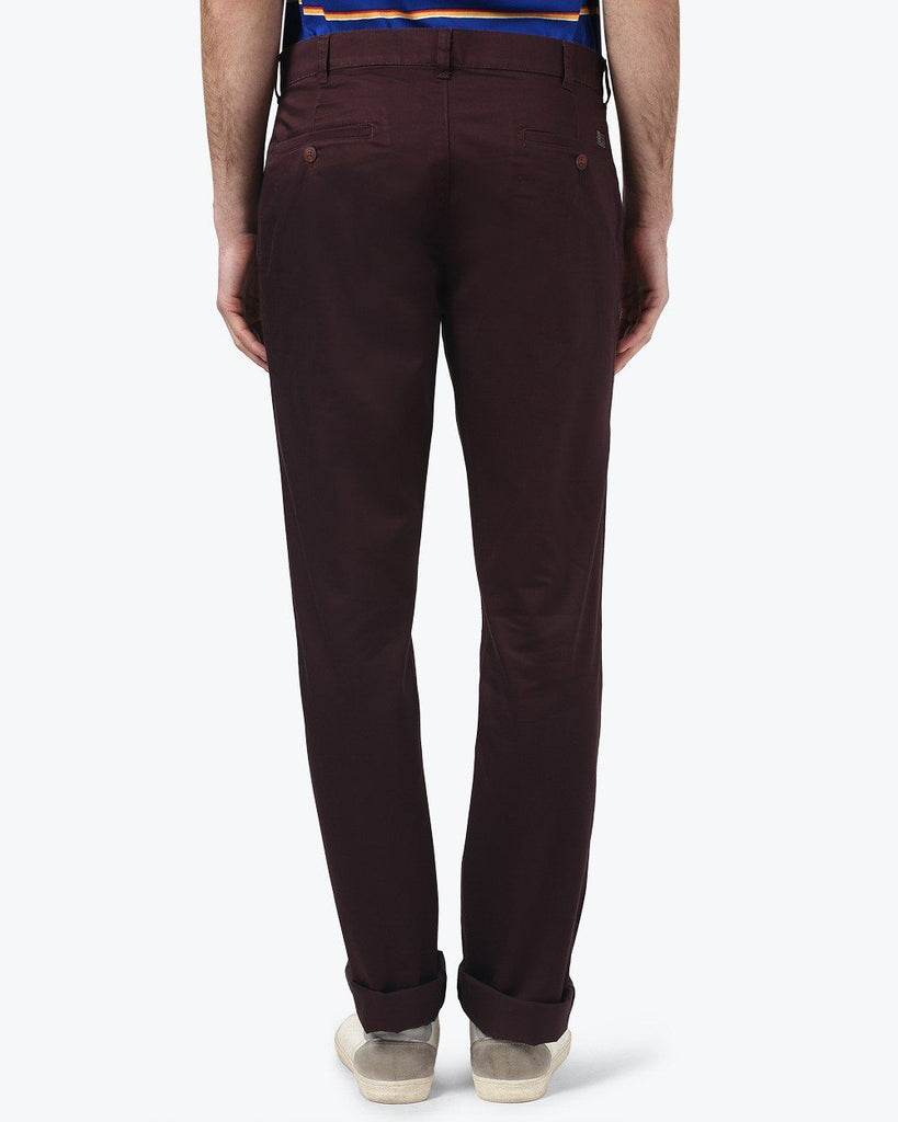ColorPlus Claret Contemporary Fit Trouser