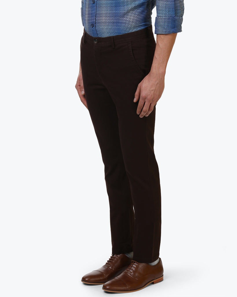 ColorPlus Dark Brown Contemporary Fit Trouser