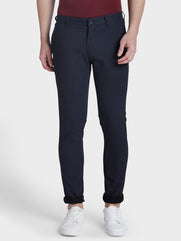 ColorPlus Blue Regular Fit Trouser