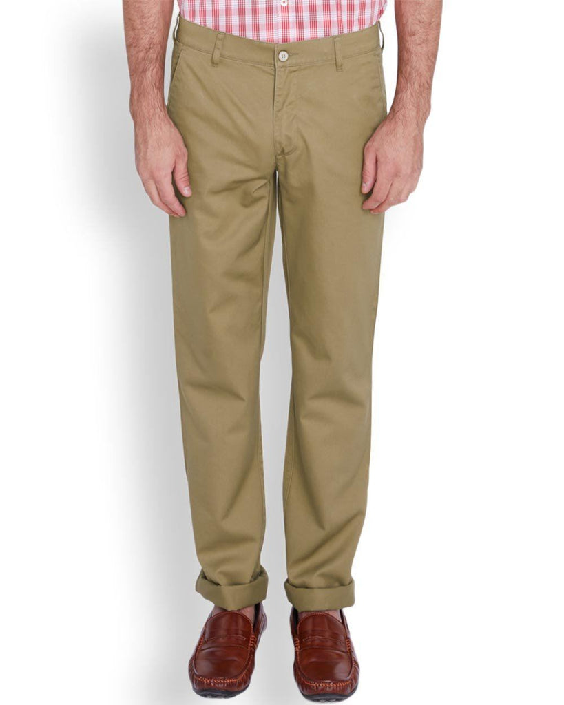 ColorPlus Medium Khaki Tailored Fit Trouser