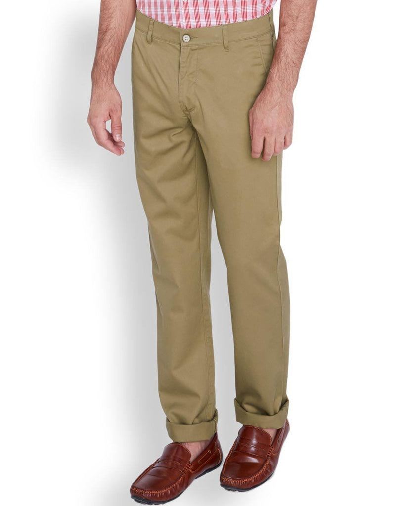 ColorPlus  Khaki Tailored Fit Trouser