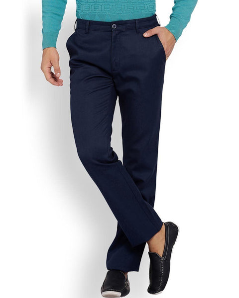 ColorPlus Navy Tailored Fit Trouser