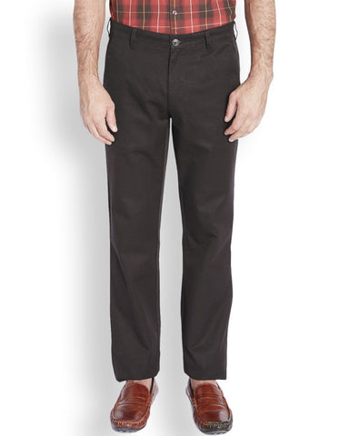 ColorPlus  Maroon Tailored Fit Trouser