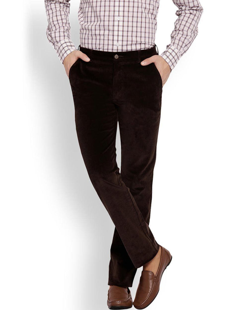 ColorPlus Dark Brown Tailored Fit Trouser