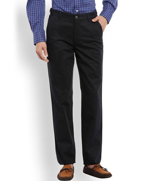 ColorPlus  Navy Blue Tailored Fit Trouser