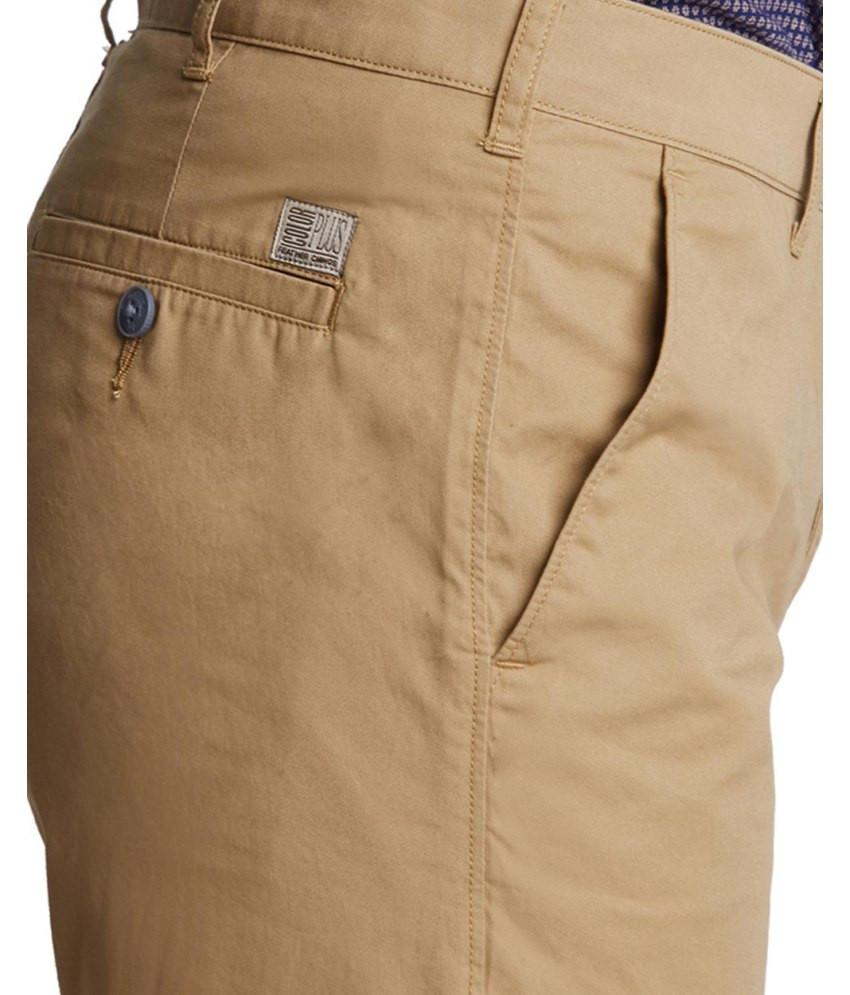 ColorPlus  Beige Tailored Fit Trouser