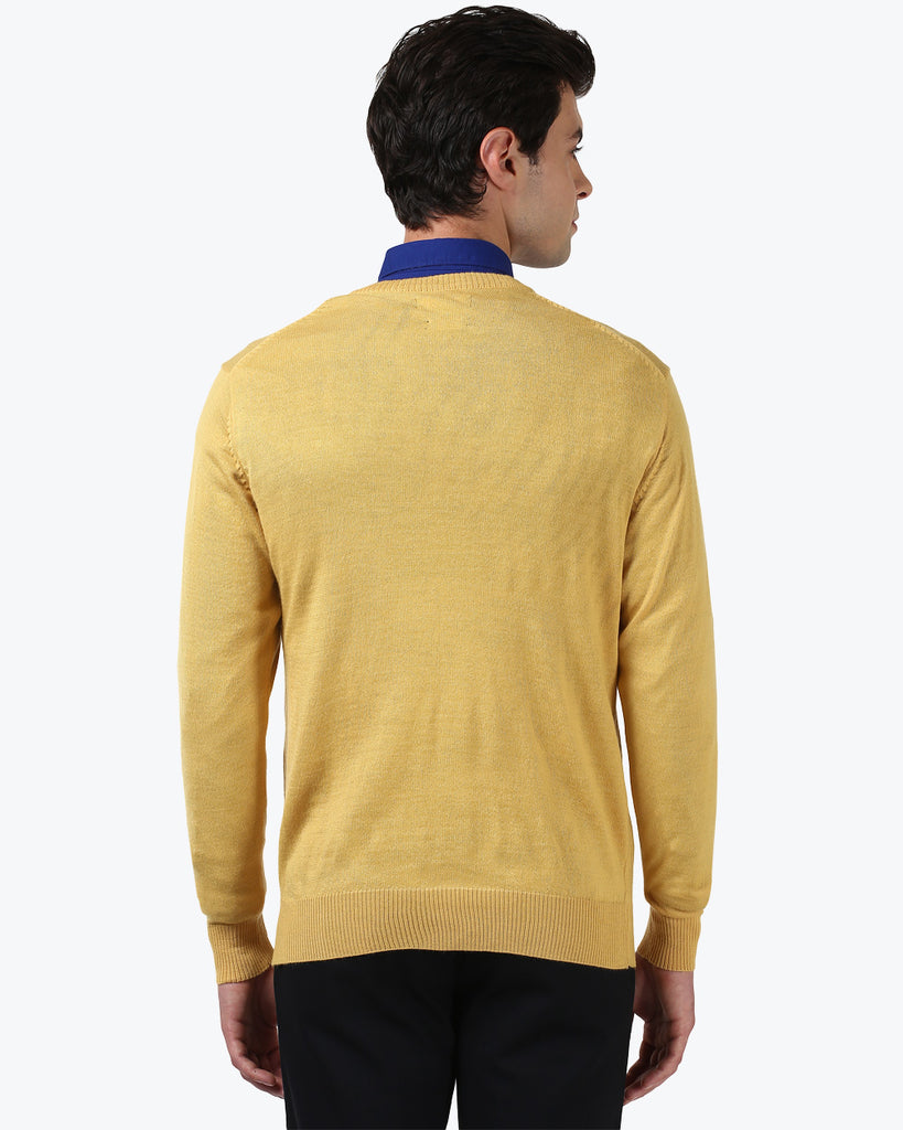 ColorPlus Yellow Tailored Fit Sweater