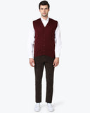 ColorPlus Maroon Tailored Fit Sweater