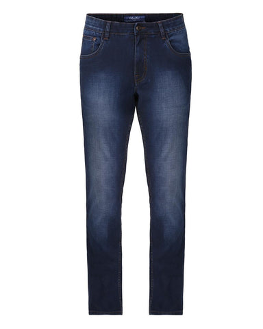 ColorPlus Dark Blue Tapered Fit Jeans