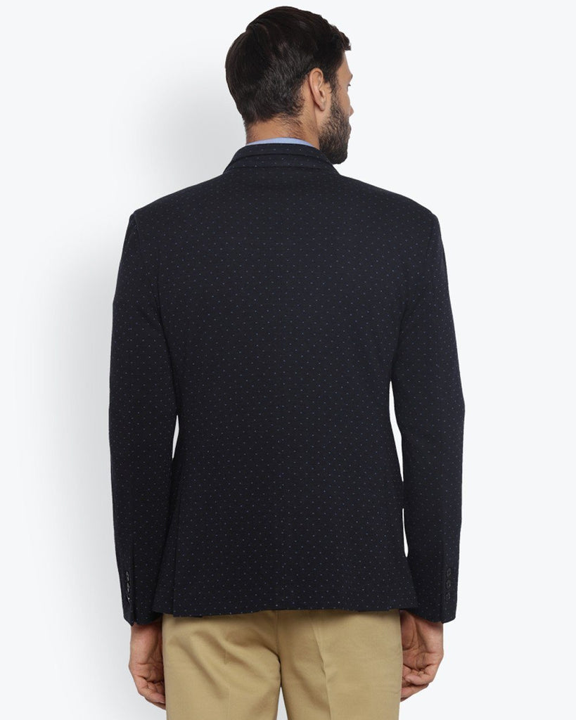 ColorPlus Navy Blue Contemporary Fit Jacket