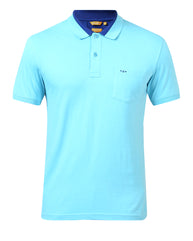 ColorPlus Medium Blue Slim Fit T-Shirt