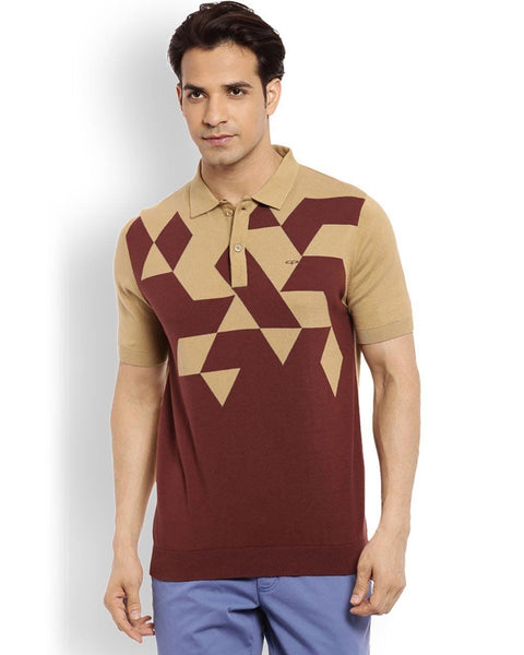 ColorPlus  Maroon Tailored Fit T-Shirt