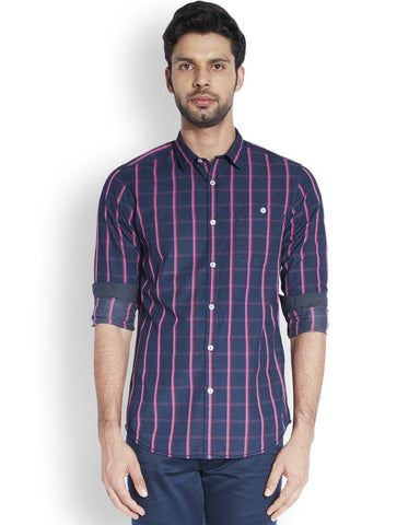 ColorPlus  Purple Contemporary Fit Shirt