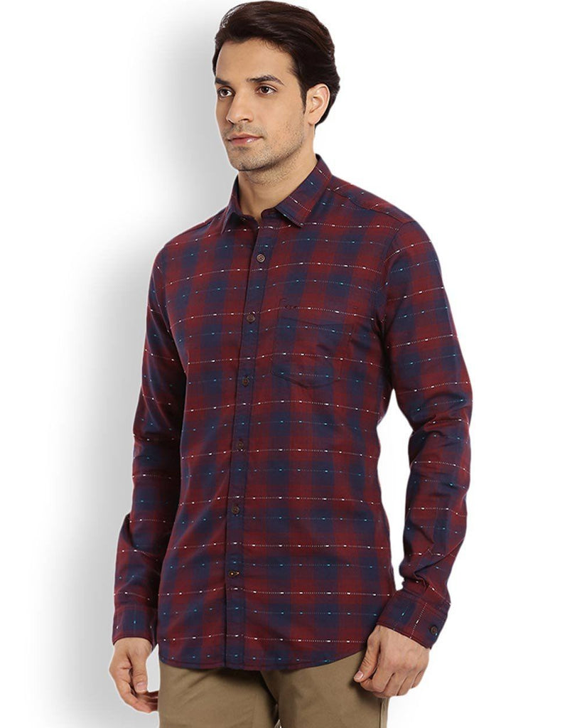 ColorPlus Maroon Regular Fit Shirt