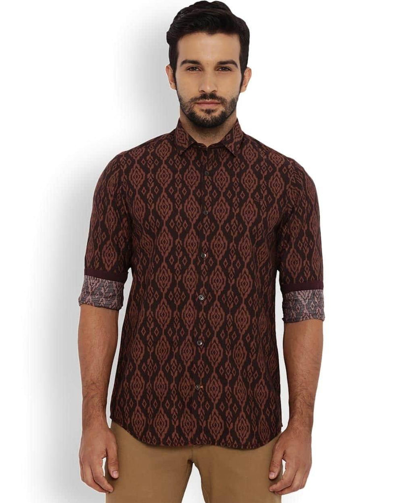 ColorPlus Maroon Contemporary Fit Shirt