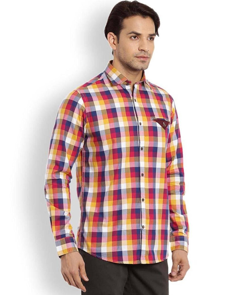 ColorPlus  Red Contemporary Fit Shirt