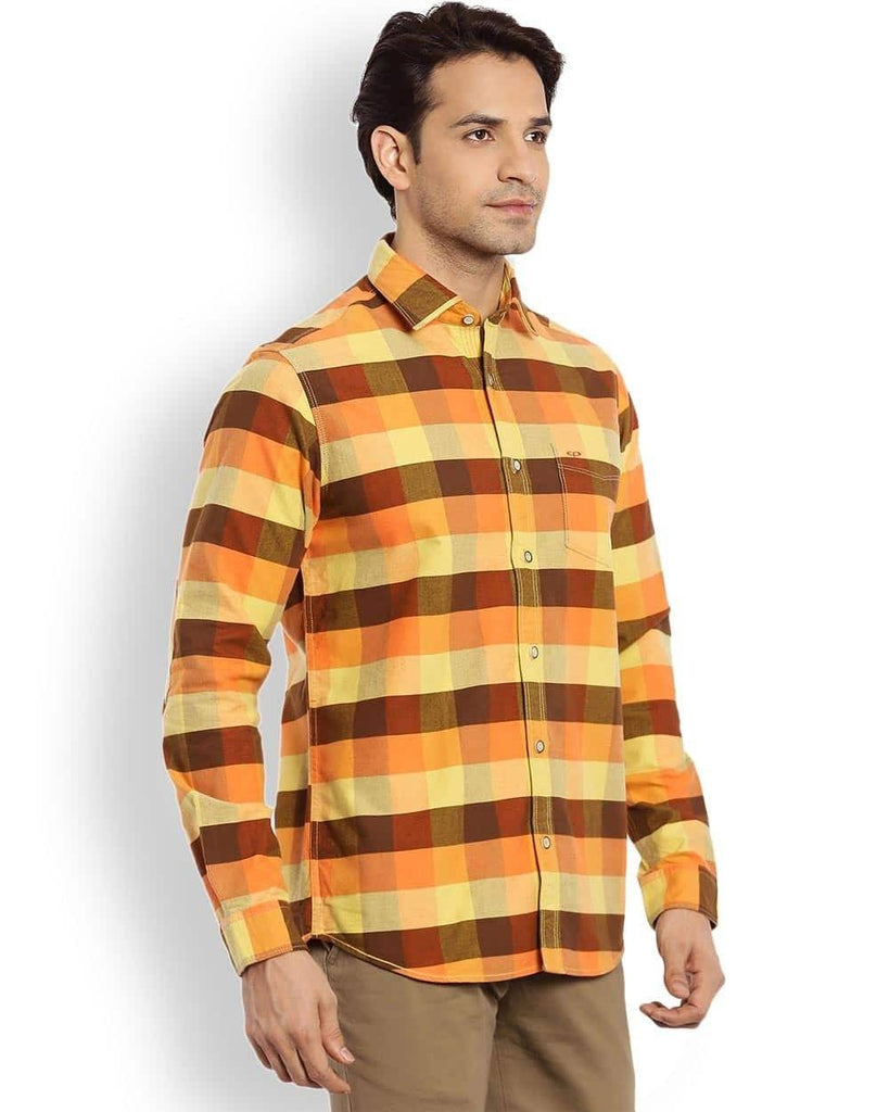 ColorPlus Orange Regular Fit Shirt