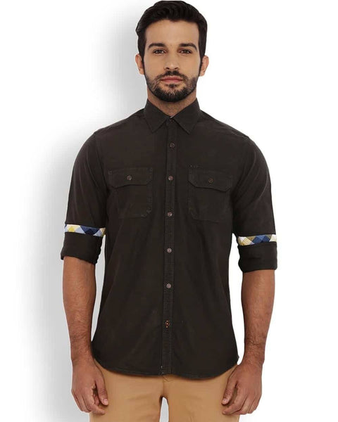ColorPlus Green Contemporary Fit Shirt