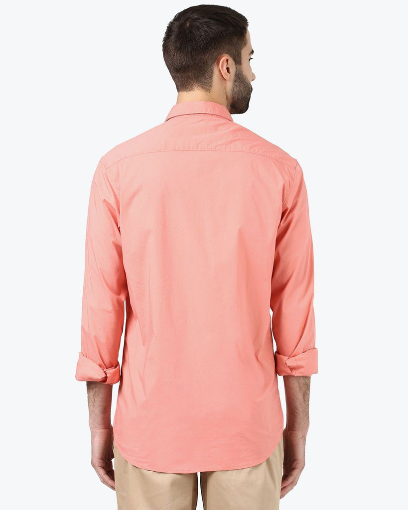 ColorPlus Orange Contemporary Fit Shirt