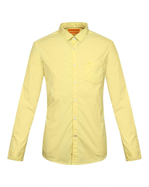 ColorPlus Yellow Contemporary Fit Shirt