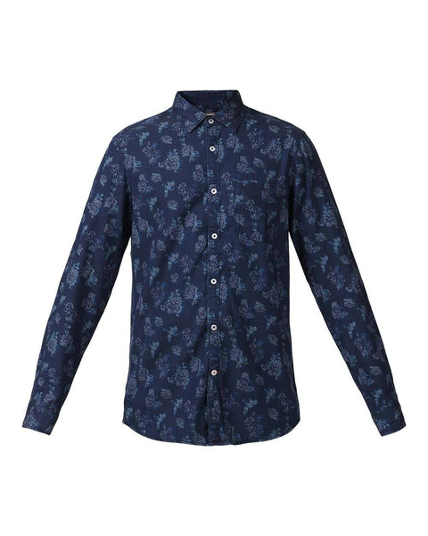 ColorPlus Indigo Contemporary Fit Shirt