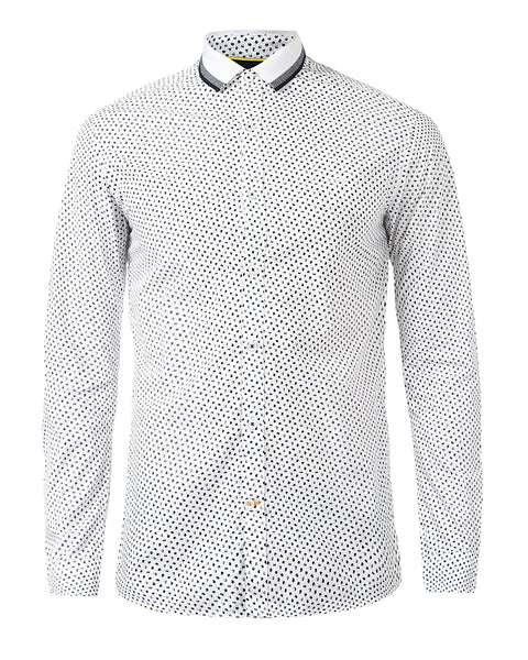 ColorPlus White Contemporary Fit Shirt
