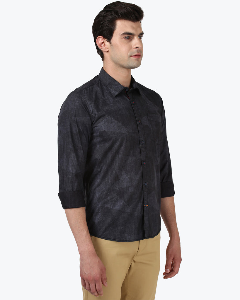 ColorPlus Black Contemporary Fit Shirt