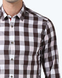ColorPlus Brown Contemporary Fit Shirt