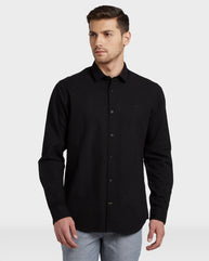 ColorPlus Black Regular Fit Shirt