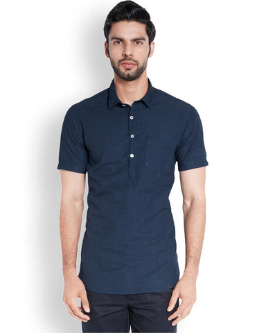 ColorPlus  Blue Contemporary Fit Shirt