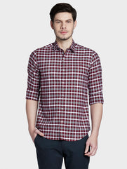 ColorPlus Maroon Slim Fit Shirt