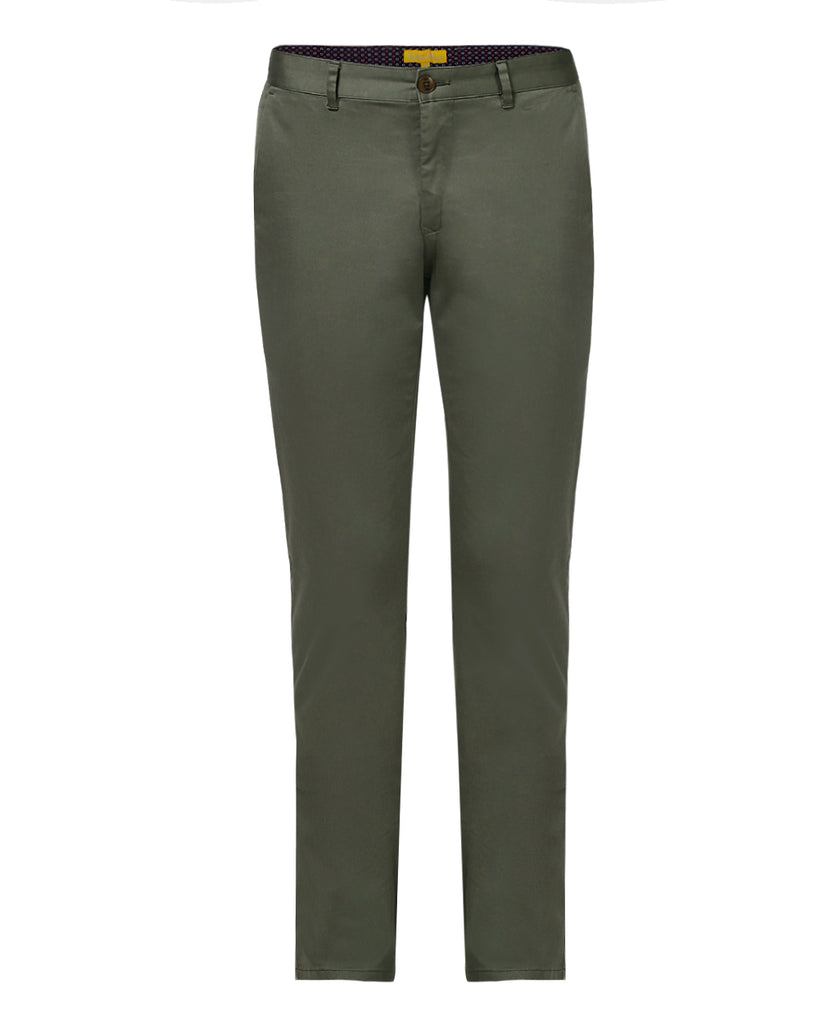 ColorPlus Medium Green Contemporary Fit Trouser