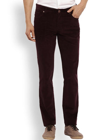 ColorPlus  Maroon Contemporary Fit Trouser