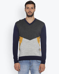ColorPlus Medium Blue Tailored Fit Sweater