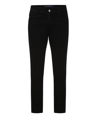 ColorPlus Black Tapered Fit Jeans