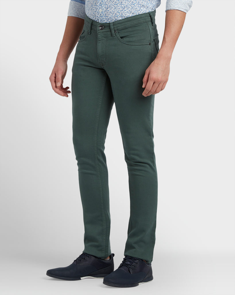 ColorPlus Green Tapered Fit Jeans