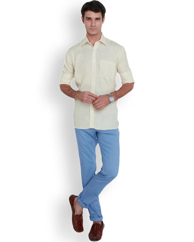 ColorPlus  Yellow Neo Classic Fit Shirt