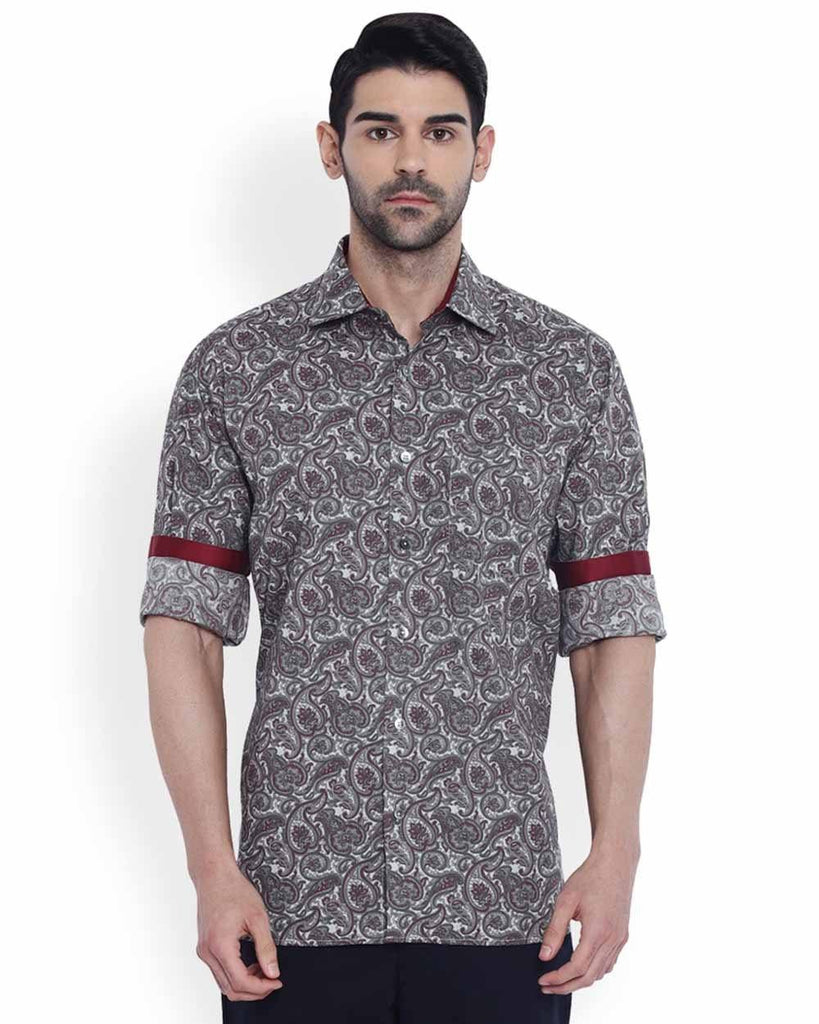 ColorPlus Maroon Classic Fit Shirt