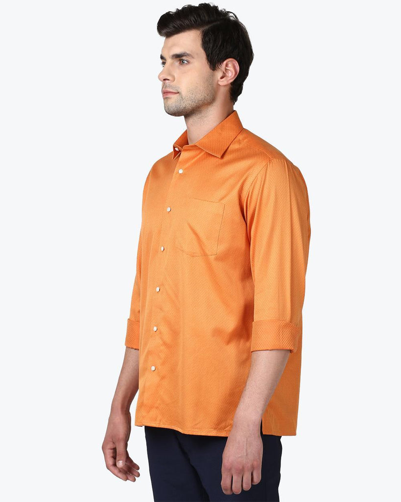 ColorPlus Orange Neo Classic Fit Shirt