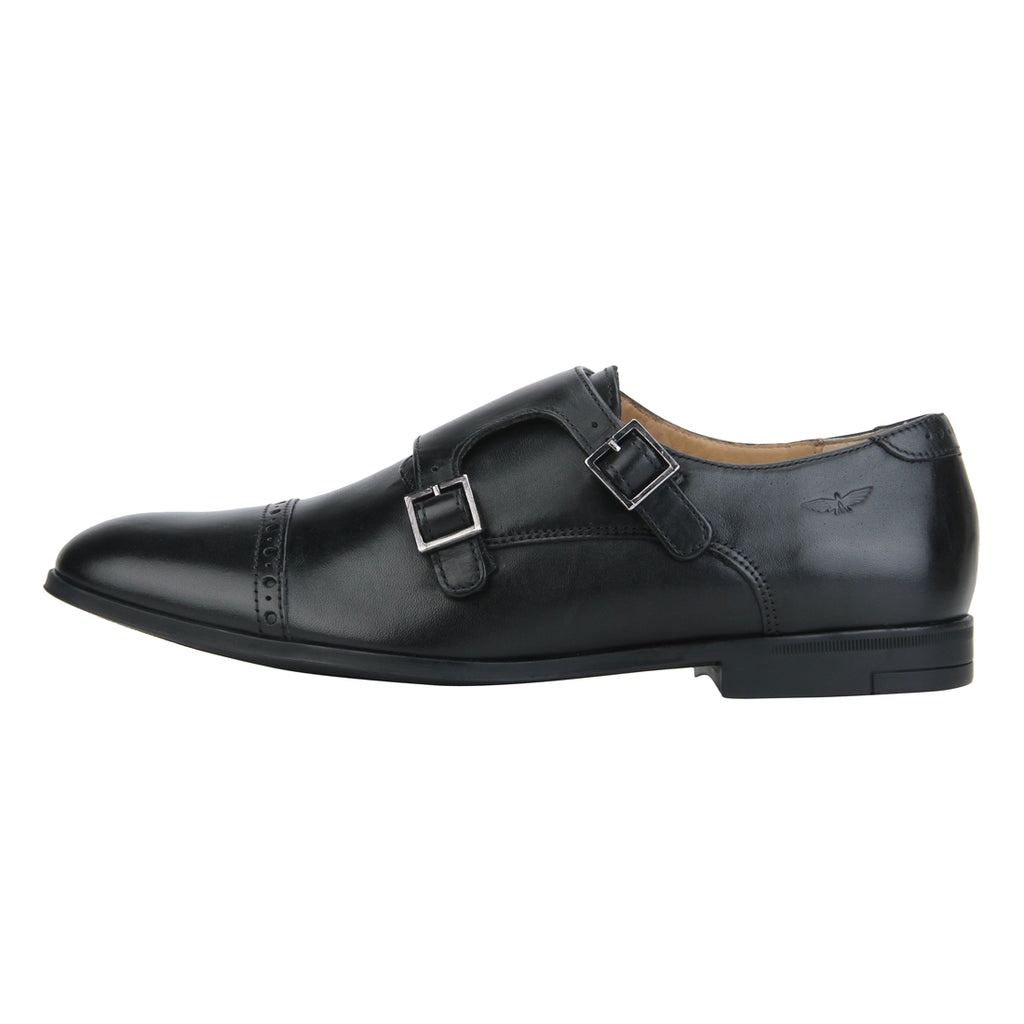 Park Avenue Black Leather Shoes