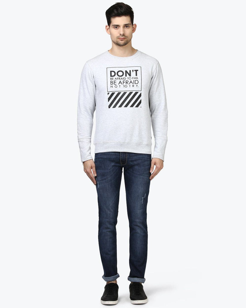 Park Avenue Grey Slim Fit SweatShirt