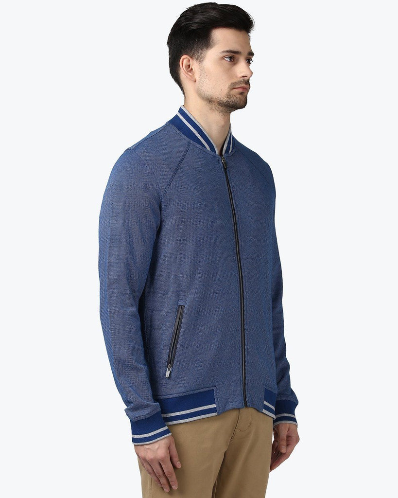 Park Avenue Blue Slim Fit SweatShirt