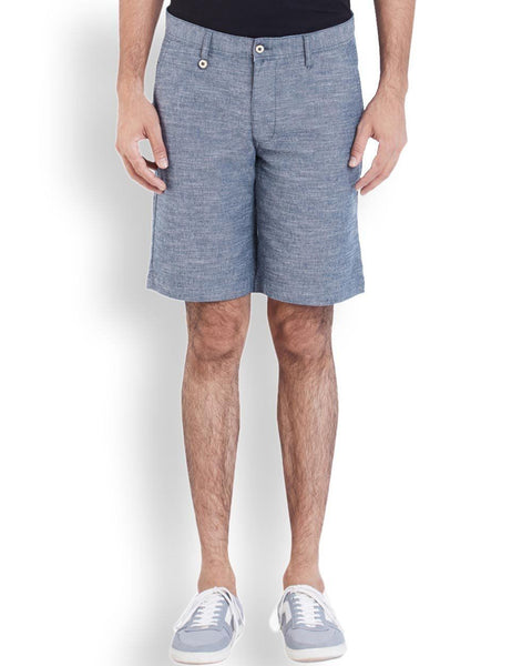 Park Avenue  Blue Casual Fit Short
