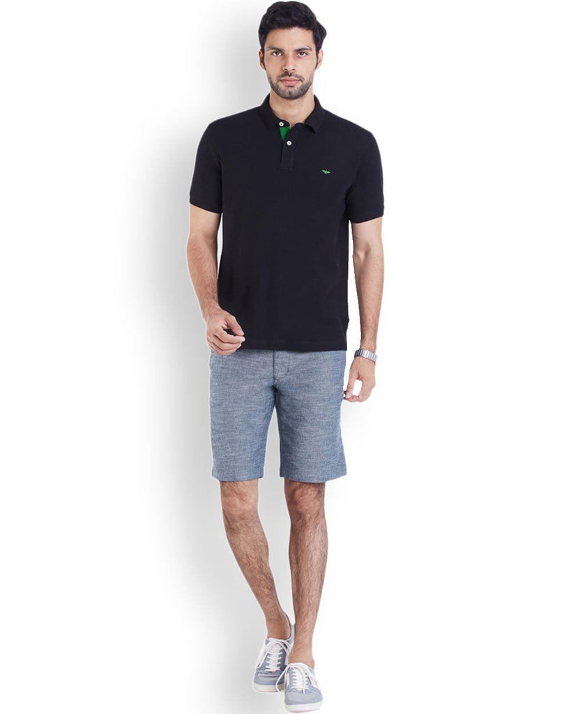 Park Avenue  Blue Casual Fit Shorts