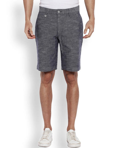 Park Avenue Light Blue Regular Fit Short
