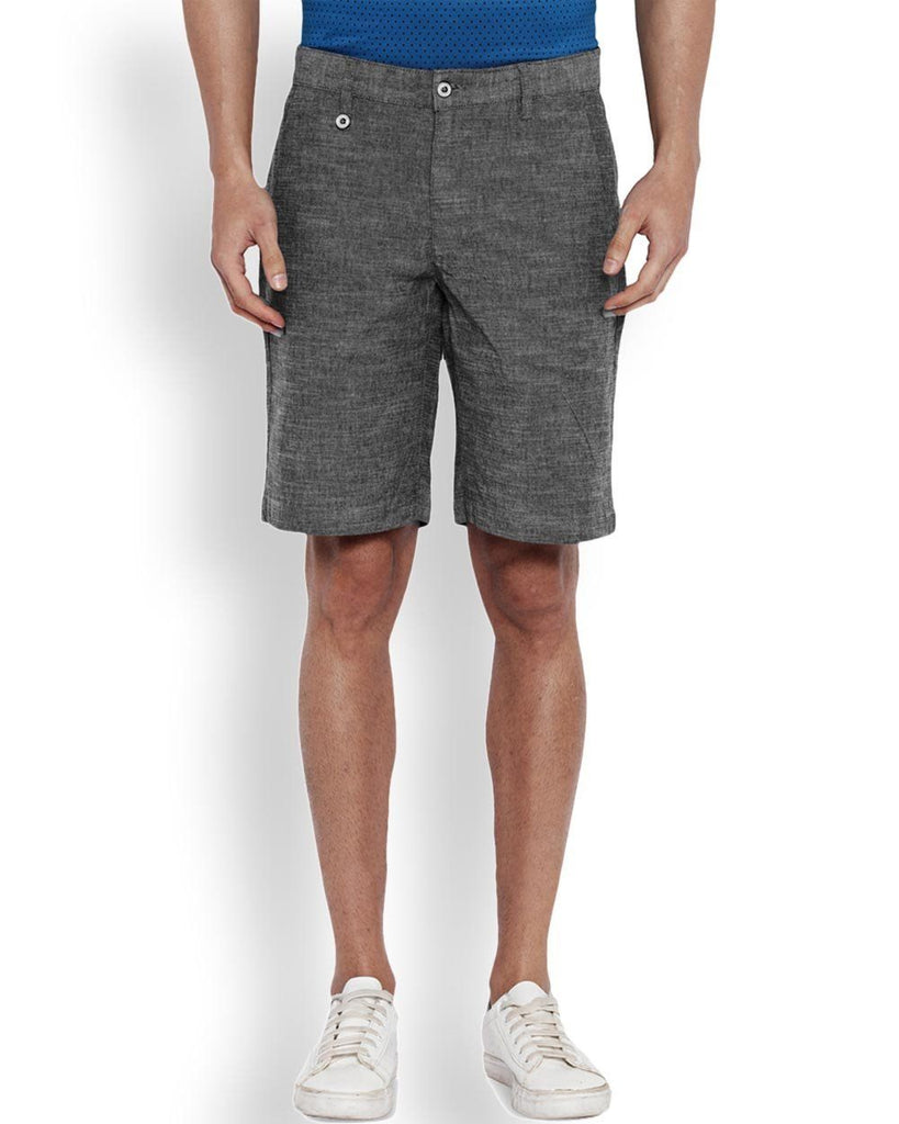 Park Avenue Grey Regular Fit Short
