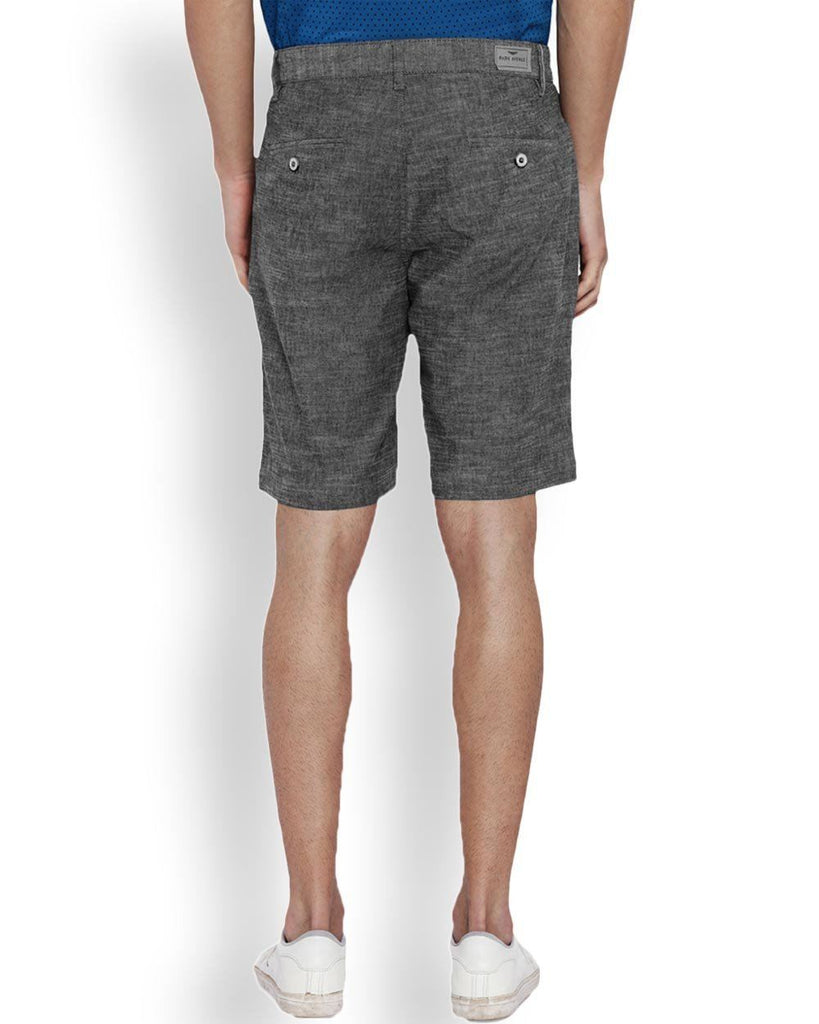 Park Avenue Grey Regular Fit Shorts